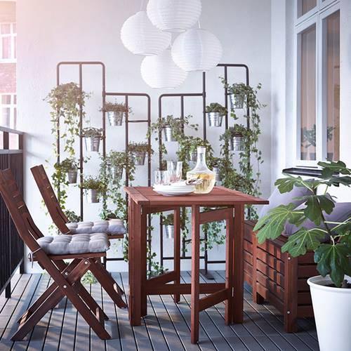 Muebles de balcones para espacios pequeños