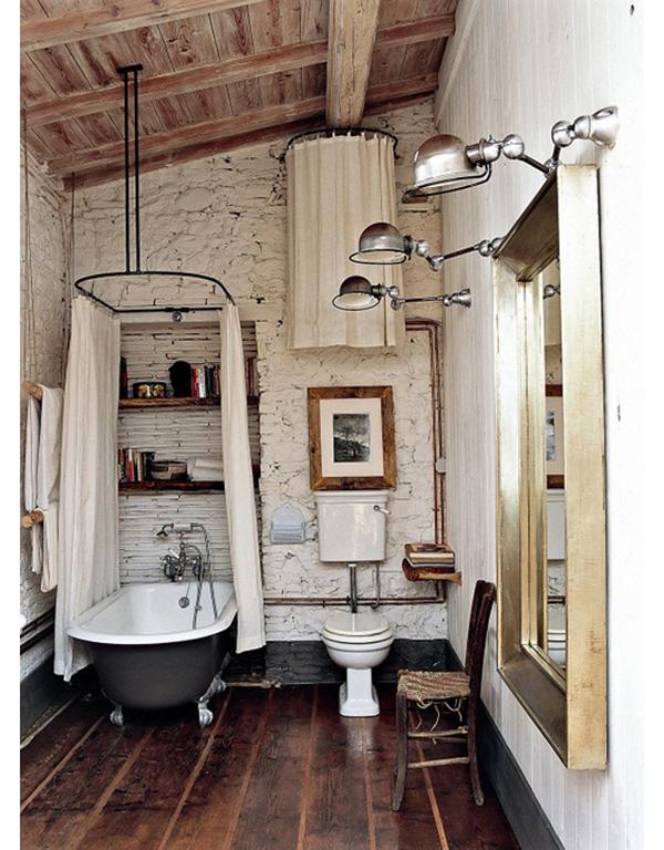 decoracion rustica baños