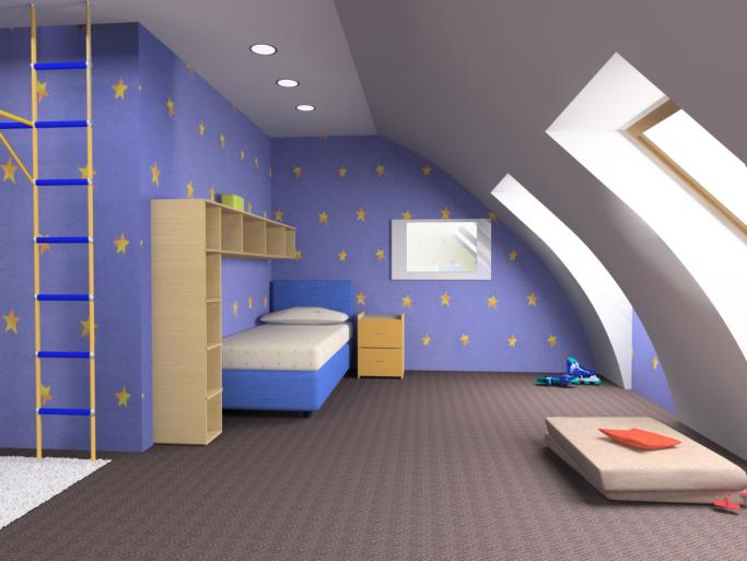 decoración con muebles infantiles sencillos