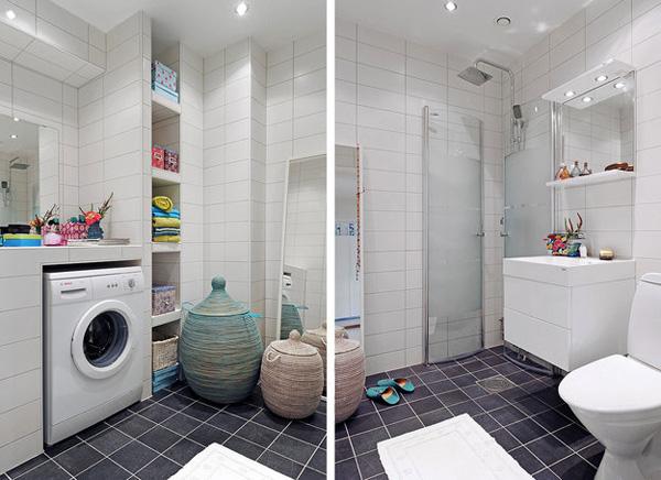 Lavadero De Baño Moderno: de varios aseos si es muy practico hacer un espacio para la lavadora