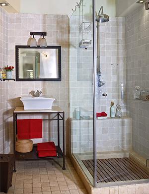 mamparas trasparentes baños pequeños