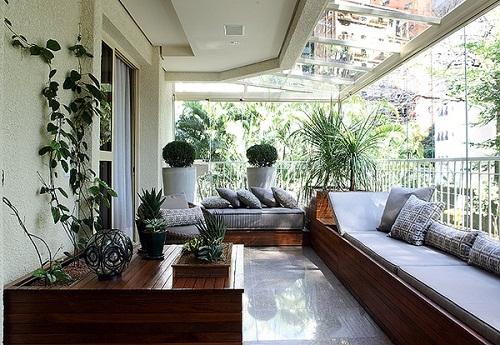 diseo moderno balcon en la decoracin balcones - Decoracion Balcones