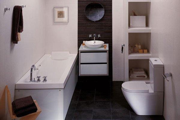 decoracion blanco y negro baños pequeños