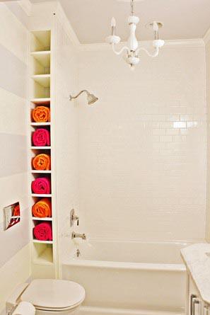 ideas estanteria de obra para baños