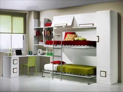 diseños con camas para niños abatibles