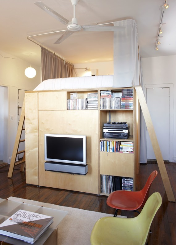 ideas decoración loft vertical
