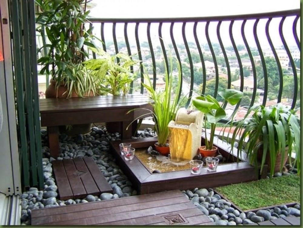 decoracion zen para balcon pequeño