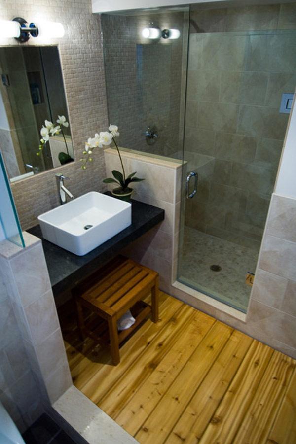 decorar baños pequeños estilo rustico