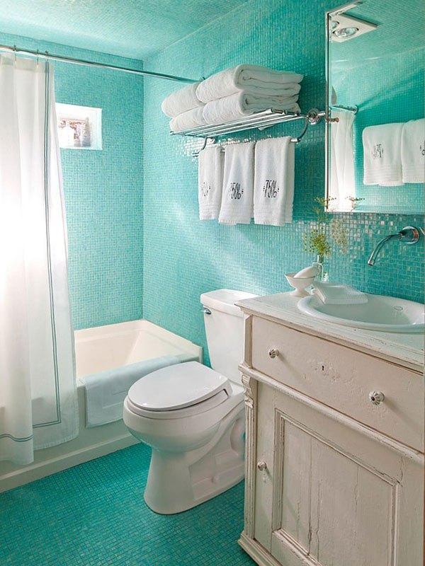 Baño Blanco De Limon:baños pequeños bicolor