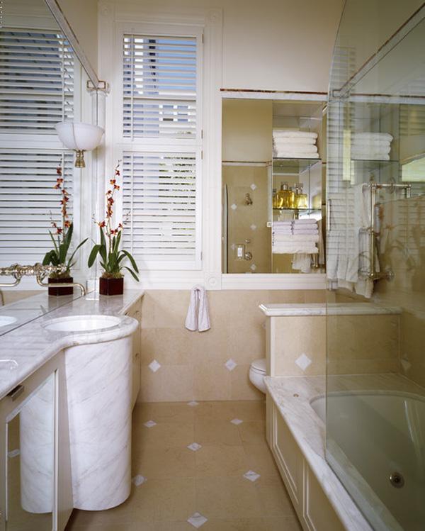 decorar estilo clasico baños pequeños blancos