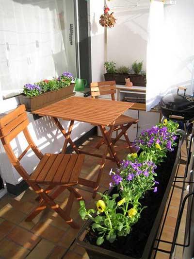 Decoraci n de terrazas y balcones ideas originales hoy for Decorar porche pequeno