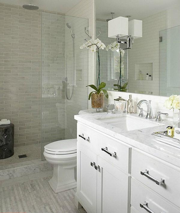 diseño clasico baños pequeños