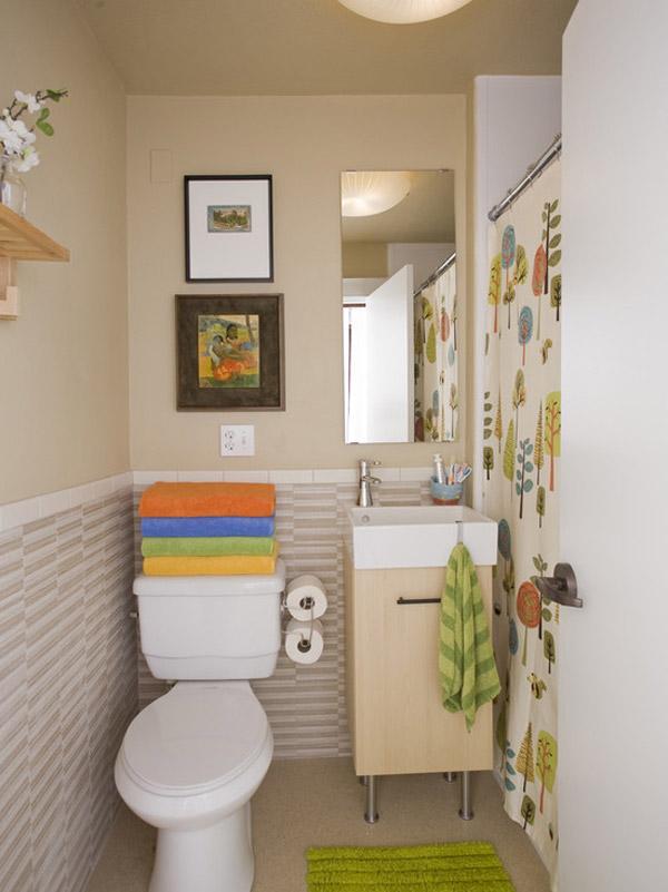 espacios pequeños para baños