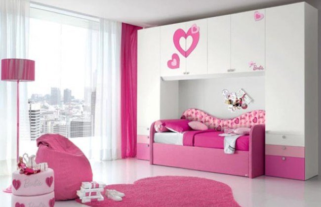Awesome false ceiling designs for kids bedrooms with pink curtain and - Decoraci 211 N De Cuartos Infantiles Un Reto Asequible Hoy