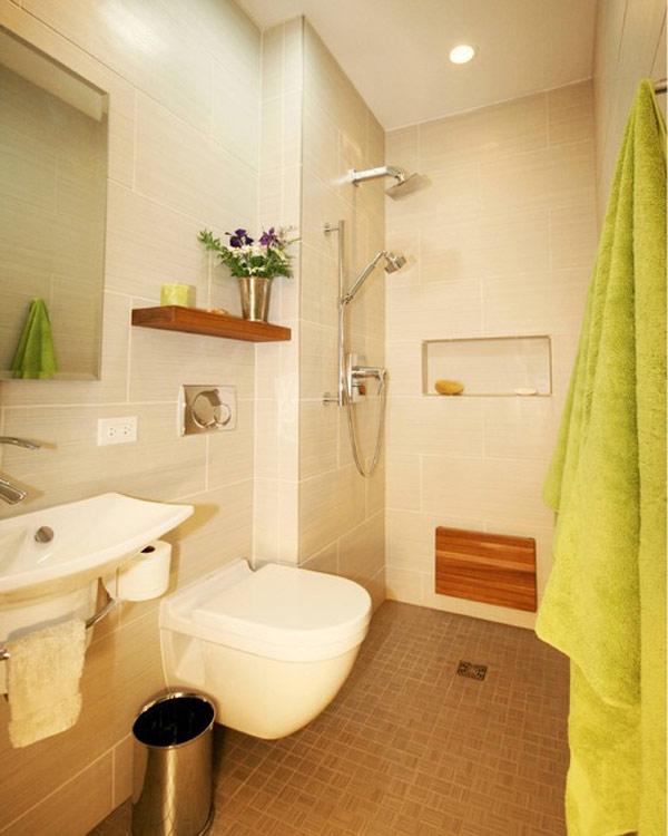 baño pequeño ducha a nivel