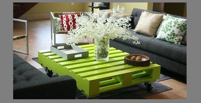 Dise o mesa salon con palets hoy lowcost - Mesa salon diseno ...