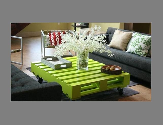 diseño mesa salon con palets