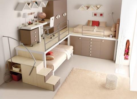 diseño para cuartos infantiles reducidos