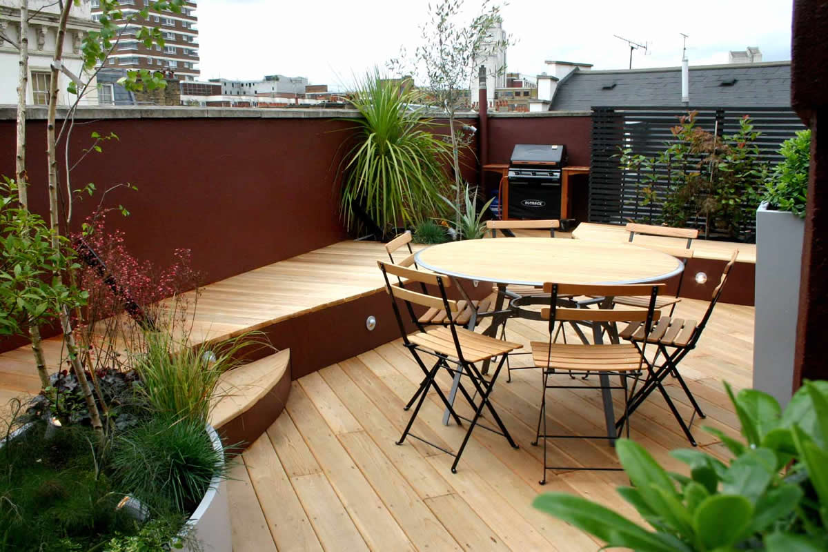 Decoraci n de terrazas y balcones ideas originales hoy - Comment amenager une grande terrasse ...