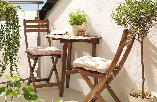 Muebles abatibles para balcones peque os hoy lowcost - Muebles para balcones pequenos ...