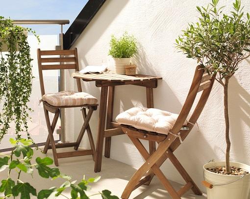 Decoraci n de terrazas y balcones ideas originales hoy - Muebles para balcones pequenos ...