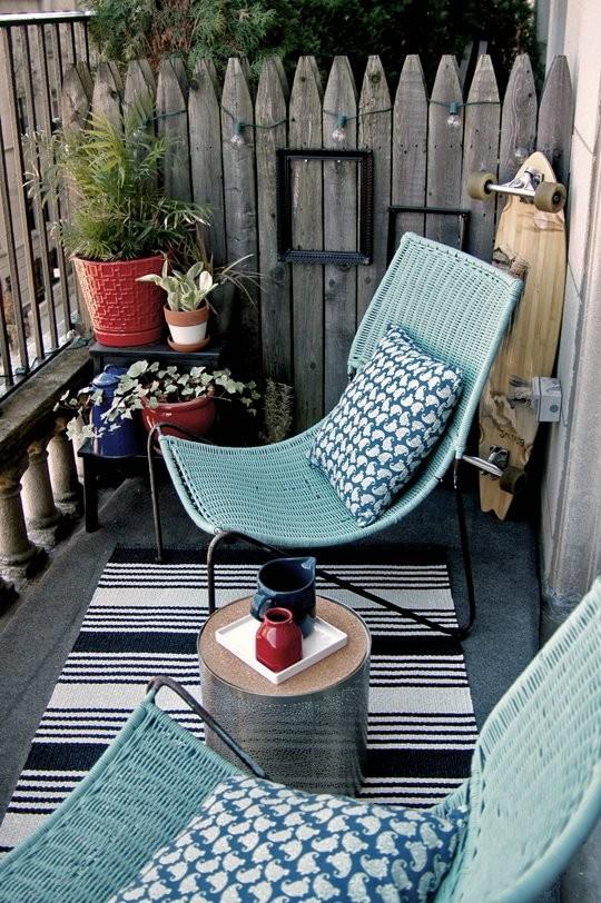 muebles comodos para balcon pequeño
