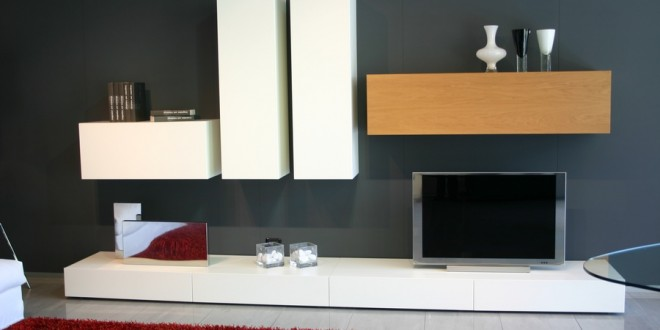 Muebles modulares salon baratos composicin apilable de - Muebles de salon baratos conforama ...
