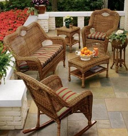 muebles mimbre para terrazas pequeñas