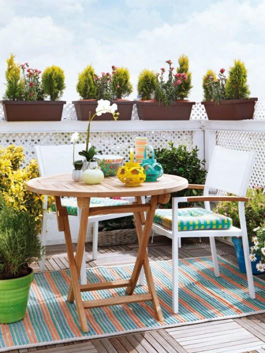 Decoraci n de terrazas y balcones ideas originales hoy - Muebles para balcon pequeno ...