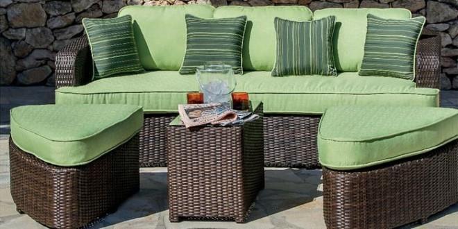 Muebles para terraza en ratan y verde hoy lowcost for Muebles terrazas ratan