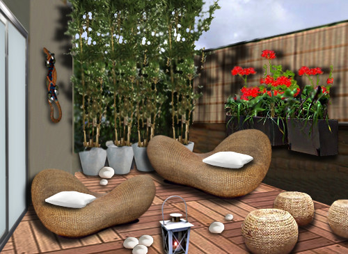 Decoraci n de terrazas y balcones ideas originales hoy - Decoration balcon terrasse appartement ...