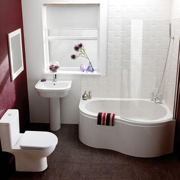 baño pequeño en blanco
