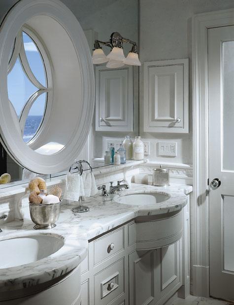 baños pequeños decorados en blanco