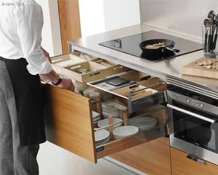 cocinas pequeñas con gaveteros