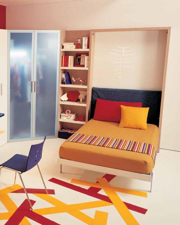 camas niños abatibles dormitorios pequeños