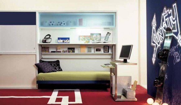 camas para niños abatibles espacios pequeños
