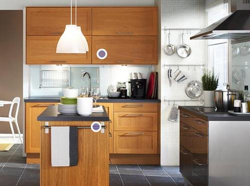 cocina integrada pequeña moderna