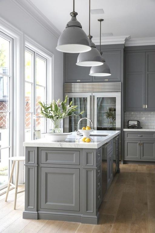 cocina moderna en gris