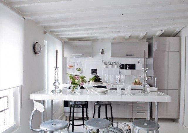 Como decorar una casa peque a con poco dinero hoy lowcost - Cocinas en color blanco ...