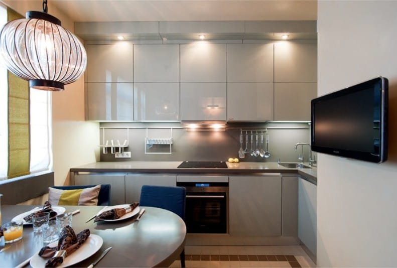cocina pequeña moderna 2017