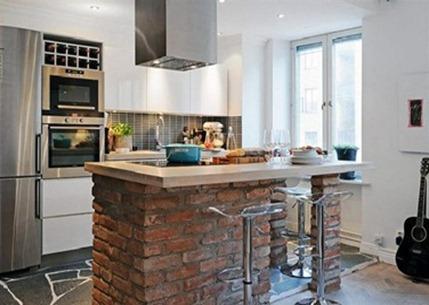 cocina moderna en ceramica - Cocinas Modernas Pequeas