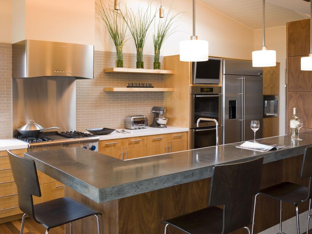 cocina moderna con barra