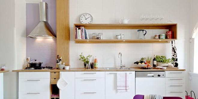Cocinas pequenas minimalistas blancas hoy lowcost - Cocinas pequenas blancas ...
