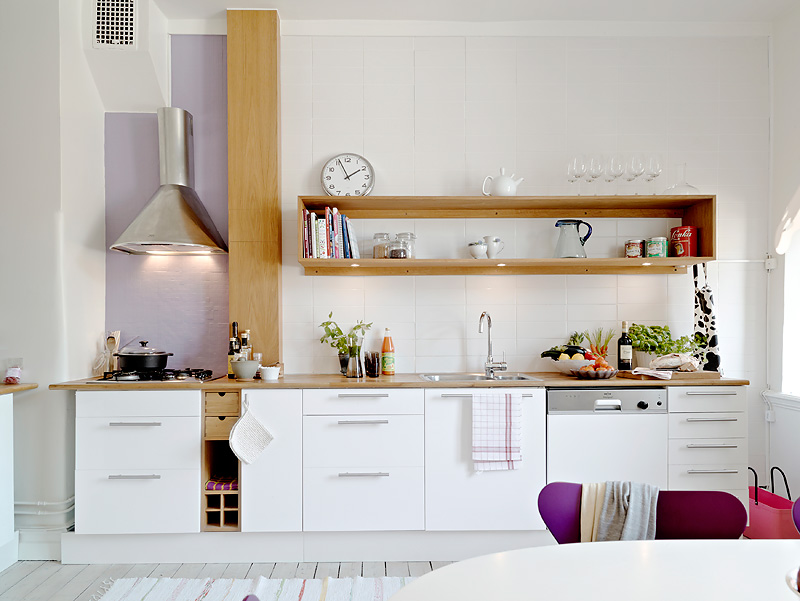 Como decorar una casa peque a con poco dinero hoy lowcost for Cocinas blancas pequenas
