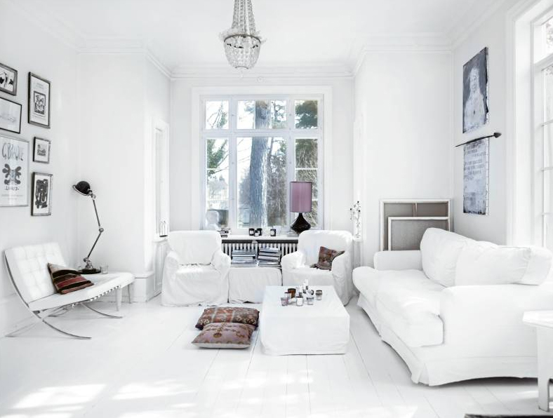 consejos decoracion salones blancos