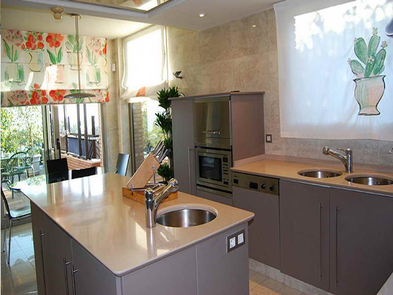 cortinas cocinas modernas pequeñas
