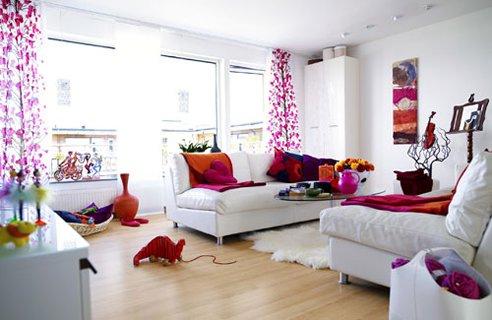 colores añadidos en decoracion casas pequeñas