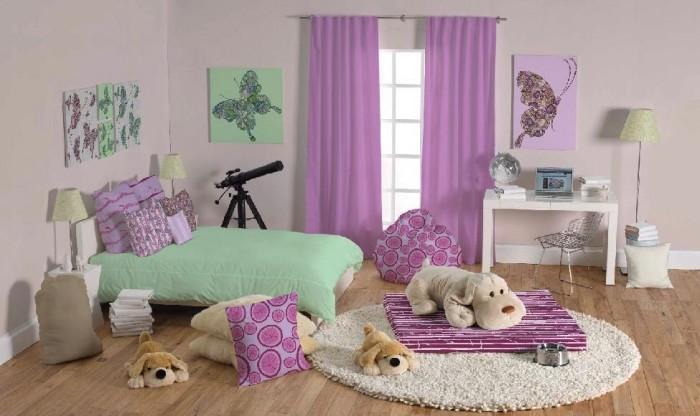 cortinas y cojines decoracion cuarto niñas