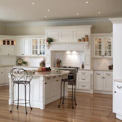 decoracion cocina clasica blanca