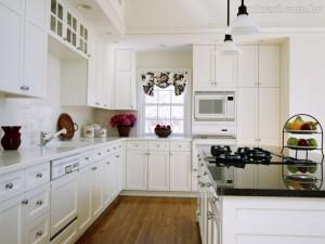 decoracion cocina muebles blancos